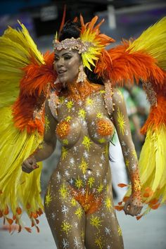 Brazil Carnival 2013, A reveller from Academicos do Tatuape samba school