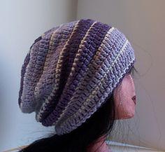 Sean Wide Striped Slouchy | Free crochet pattern via Ravelry