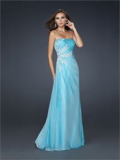 Elegant Strapless with Pleated and embellishments On Side Chiffon Prom Dress PD10839  ----2013 Prom Dresses,Prom Dresses 2013,Prom Dresses,Prom Dresses UK,Prom Dresses 2013 UK,2013 Prom Dresses UK
