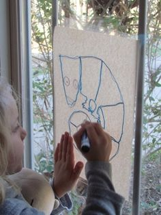Window tracing on a sunny day by Teach Preschool