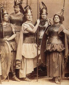 "In Richard Wagner's opera ""Die Walkure"" (from the Cycle ""Der Ring des Nibelungen""-""The Ring of the Nibelung""), the VALKYRIES are WOMEN WARRIORS and HEROIC FIGURES banding together in a POWERFUL SISTERHOOD retrieving the dead heroes slain in battle and carrying them to VALHALLA!"