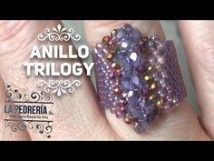 Tutorial Anillo, Ring Tutorial, Bracelet Tutorial, Seed Bead Jewelry, Bead Jewellery, Jewelry Making Tutorials, Beading Tutorials, Beaded Rings, Beaded Bracelets