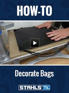 Ever wonder how to decorate bags? Learn how to heat press different types of bags including totes, cinch bags, and duffle bags for generating more revenue to your business, using heat transfer vinyl aka htv on  http://www.StahlsTV.com/decorating-bags-made-easy