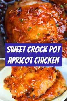 crockpot chicken easy Crock Pot Apricot Chicken Recipe is sweet and savory. Apricot preserves combine with soy sauce and ginger for chicken you can't resist. Try this easy meal. Crockpot Recipes, Soup Recipes, Chicken Recipes, Dinner Recipes, Cooking Recipes, Slow Cooker Hamburger Soup, Slow Cooker Chicken, Crockpot Stuffing, Apricot Preserves Recipe