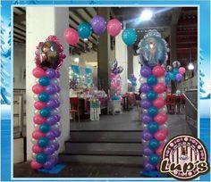 frozen !!!... ;) Frozen Balloon Decorations, Frozen Balloons, Princess Balloons, Balloons And More, Frozen Theme Party, Frozen Birthday Party, Girl Birthday, Birthday Parties, Balloon Stands