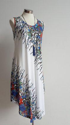 Draping Bias Cut Dress - Floral