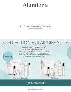 ALUMIER MD: Nouvelle collection éclaircissante! – La Chambre Des Dames
