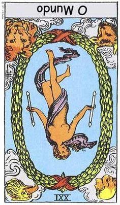 Carta Tarot para 01-07-2015 A carta do dia de hoje, o mundo invertido, alerta-nos para a importância de equilibrarmos o nosso interior, conciliando as noss