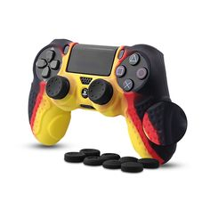 CHINFAI Controller DualShock 4 Skin Grip Anti-slip Silicone Cover Protector Case for Sony Pro Controller with 8 Thumb Grips Hand Problems, Ps4 Controller, Protective Cases, Cell Phone Accessories, Sony, Playing Games, Smooth, Hands, Buttons