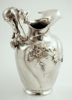 WMF Figural Art Nouveau Pitcher, Germany circa 1907.