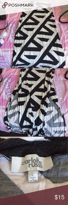 Charlotte Russe Maxi skirt Black and white large maxi skirt Charlotte Russe Skirts Maxi