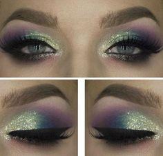 Idea colorata per trucco occhi verdi