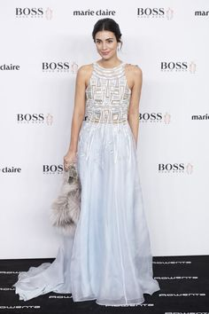 She's not afraid to wear a bright, eye-catching color. Marie Claire, Ernst August, Vestidos Retro, Estilo Real, Business Dresses, Fashion Poses, Red Carpet Looks, Chic Dress, Royal Fashion