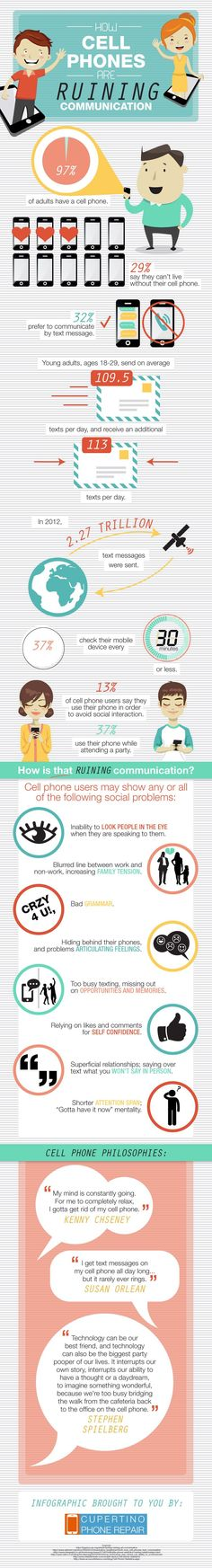 How Cell Phones are Ruining Communication