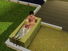 Whenever your Sim decided to do something stupid like get into a bathtub with a bowl of salad. | The 29 Weirdest Things Ever To Happen When Playing The Sims