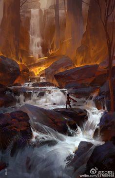 Jungle war, liang shao on ArtStation at https://www.artstation.com/artwork/Xaq4a
