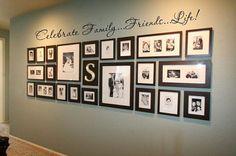Photo Collage Idea for Hallway