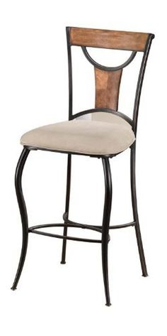 Hillsdale Furniture 4137-831 Pacifico Non-Swivel Bar Stools- Set Of 2 In 1 Ctn by Hillsdale Furniture. $299.00. Size: 46.75 H x 20.5 W x 21.5 D.. Great Gift Idea.. Satisfaction Ensured.. Seat Height: 30.. Color: Black W/copper Highlights & Honey Maple Accents.. Black metal with copper highlights mix with wood finished in Honey Maple tones to accomplish the cool, refreshing look of Hillsdale's Pacifico barstools. Clean lines with just enough curve, versatile beige mi...