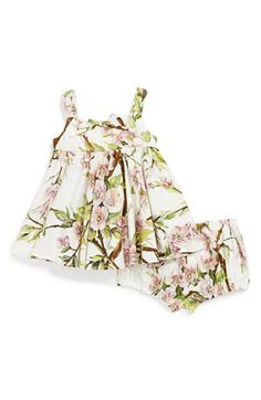 Yes, my granddaughter will be wearing D&G. Dolce&Gabbana Floral Print Sleeveless Dress & Bloomers (Baby Girls) available at #Nordstrom
