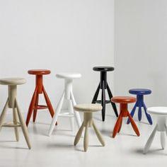 Rocket stools by Eero Aarnio for Artek.
