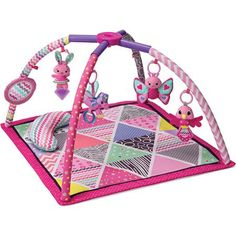 Infantino Twist And Fold Activity Gym Baby Girl Animals