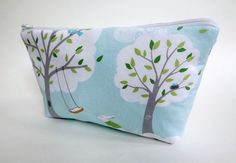 Daytripper makeup bag in Pale Aqua Windy Day
