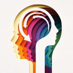 Owen Gildersleeve : Papercraft Illustrator and Art Director Brain Art, Abstract Logo, Graphic Design Posters, Magazine Art, Graphic Illustration, Paper Art, Cool Art, Art Projects, Creative