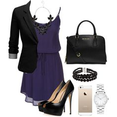 This grape colored dress is great for the summer time and casual office setting.