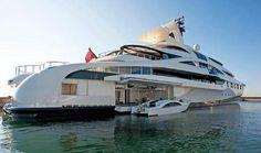 Multi-million dollar luxury yacht