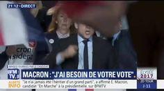 """""""Je n'en veux pas"""", Emmanuel Macron s'emporte à Arras contre Marine Le Pen"""