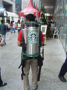 SOMEWHERE on the streets of NYC.. can you get instant hot coffee...DELIVERED..!! lol