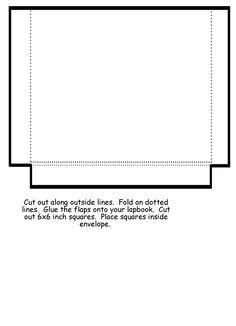 Homeschool Helper Online's Free Large Envelope Lapbooking Template