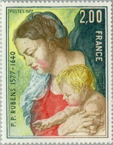 'Madonna and Child' (detail) - Peter Paul Rubens Peter Paul Rubens, Adele, Francia Paris, Cellos, Commemorative Stamps, Envelope Art, Make Pictures, Madonna And Child, Children Images