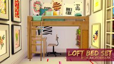 Sims 4 CC's - The Best: Loft Bedroom Set by DreamcatcherSims4