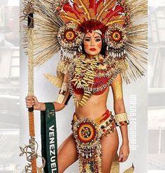 Traje Típico diseñado para Andrea Rosales de Princesa Indigena, para el Certamen de Miss Earth 2015 en Austria. Ocupando el 2do Lugar en esa Categoria..