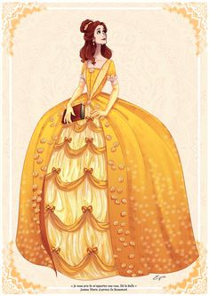 """""""Belle""""(Beauty and the Beast) by AzureOcean (Part of her Disney Princess series, all of which are beautiful! Disney Belle, Princesa Disney Bella, Bella Disney, Disney Dream, Disney Girls, Disney Love, Disney Pixar, Deco Disney, Arte Disney"""