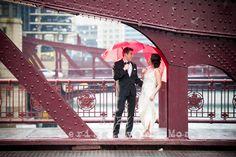 Bride and Groom happy in the rain. R.E.M. Wedding. www.remvp.com