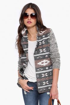 Denver Sweater Jacket in Multi | Necessary Clothing