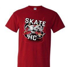 Camiseta Halfcab Skate HC vermelha você encontra no nosso site. www.halfcab.com.br