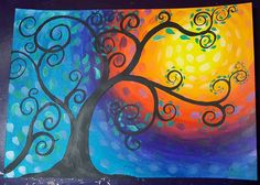 """51 Likes, 5 Comments - little muisje's Art (@little.muisje) on Instagram: """"Went on and painted this too. Another #tutorial from @theartsherpa #whimsical #tree. Quite fun! . .…"""""""