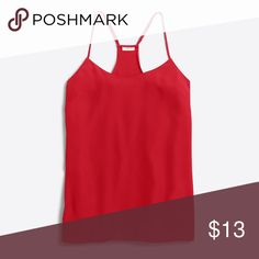 NWT red J. Crew factory racerback cami Classic red racerback tank, brand new with tags. Bought it thinking it would be a different shade of red than the one I already own, and realized when I got it it's the exact same tank! More pictures of item will be posted tonight J.Crew Factory Tops Camisoles