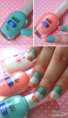Cupcake nails <3