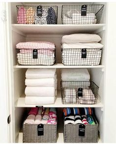 Bathroom closet organization, closet storage, bathroom storage, organized l Linen Closet Organization, Bathroom Organisation, Closet Storage, Organization Hacks, Organized Linen Closets, Organizing Bathroom Closet, Organizing Small Closets, Bathroom Ideas, Design Bathroom