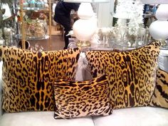 ~ LOVE touches of leopard in my home !!