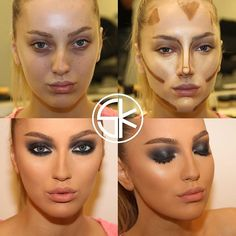"""petitedeath: """"spoopyvoncreppy: """" decorkiki: """" The Work of Samer A. Khouzam - Make-Up Artist """" This is actually an amazing example of where to contour and highlight """" holy shit the second one doesnt. Nose Contouring, Contour Makeup, Contouring And Highlighting, Contour Face, Face Makeup Tips, Makeup Tricks, Eye Makeup, Makeup Tutorials, Makeup Blush"""