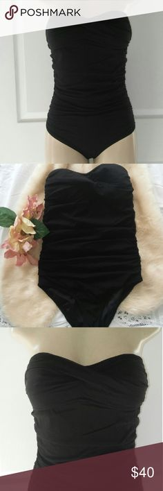 J Crew Tulle Bandeau Tank Luxe Tulle Collection Lightly used. No faded. No straps included. J Crew Swim One Pieces