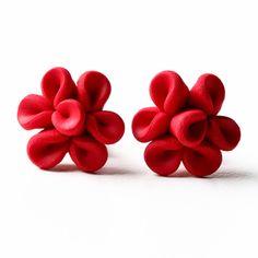 Nailpolish Earrings Small Red