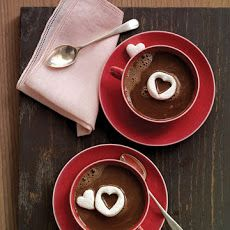 Hot Chocolate with Marshmallow Hearts Recipe