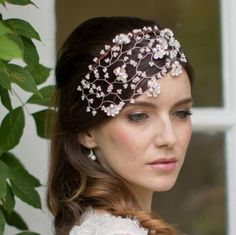 Pearl and crystal vintage headpiece cap