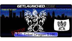 Tribal Dragon Hood Graphic 5